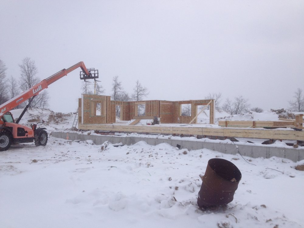 Progress... - The walls (shell) are installed on site. This makes the job move much quicker in any weather.