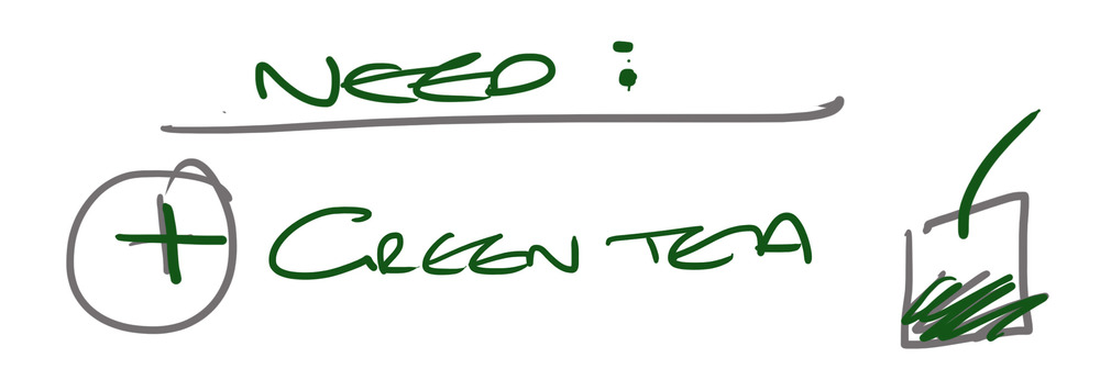 Green tea needed