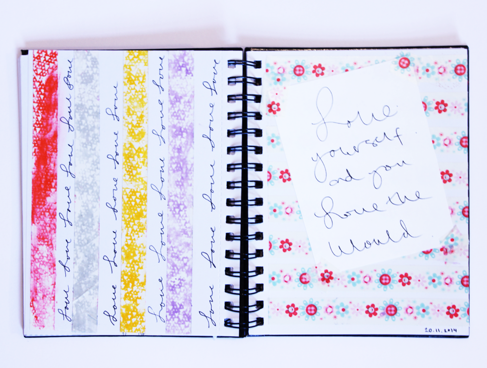 Get Messy Art Journal Pages | Love