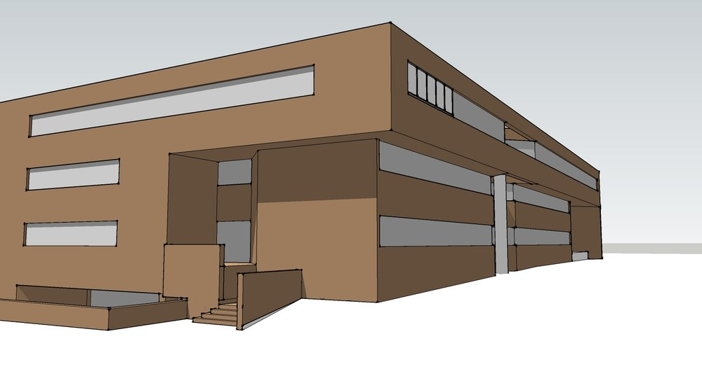 A three-dimensional created in Sketchup.