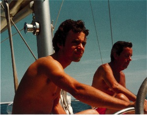 On the Antibes: Marc sailing with his father. Photo: Courtesy of Marc Jensen