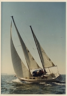 ANTIBES: One of the Jensen family''s first sailboats. Photo: Courtesy of Marc Jensen