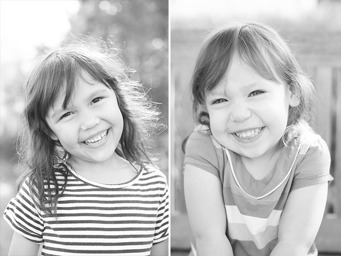 These black and white portraits of the girls are my favorites. They're straightforward and timeless. Plus, I love how each girl is exuding joy but their expressions and body language are different.
