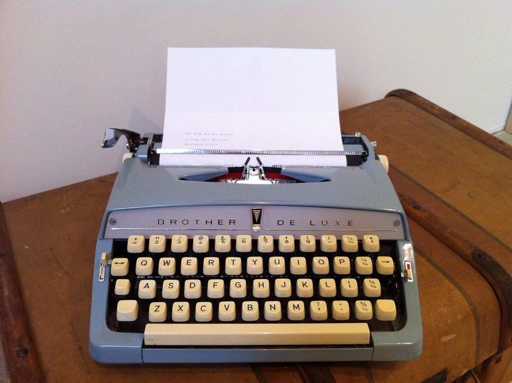 Typewriter £15 (includes ink)