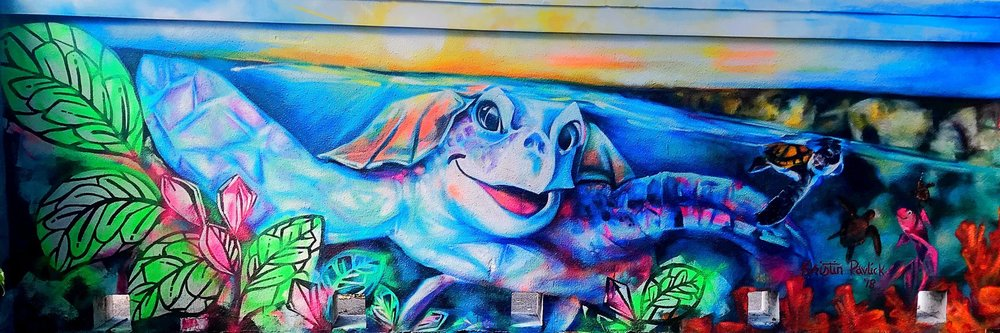 Gumbo Louis the First    Acrylic, Latex + Spray Paint | 6ft x 20ft   Installed at 1400 N. Ocean Drive Boca Raton, FL 33432