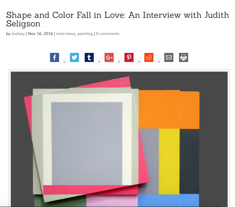 Shape and Color Fall in Love: An Interview with Judith Seligson