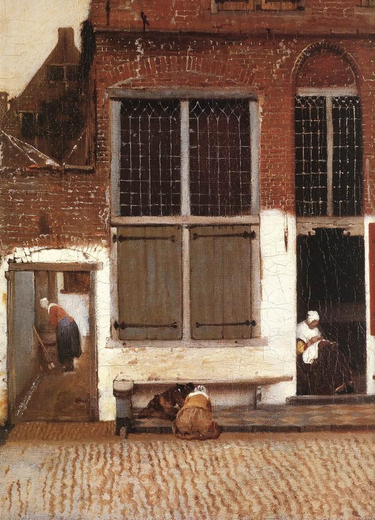 Johannes Vermeer, The little Street (Detail view),  c. 1657–58, Oil on canvas, 21.4 in × 17 in