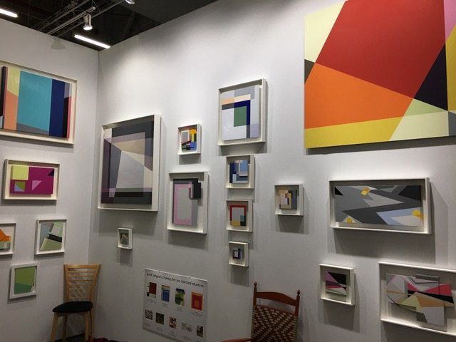 Installation view of Judith seligson's booth ( booth m720 ) in the made section of the 2017 architectural digest design show