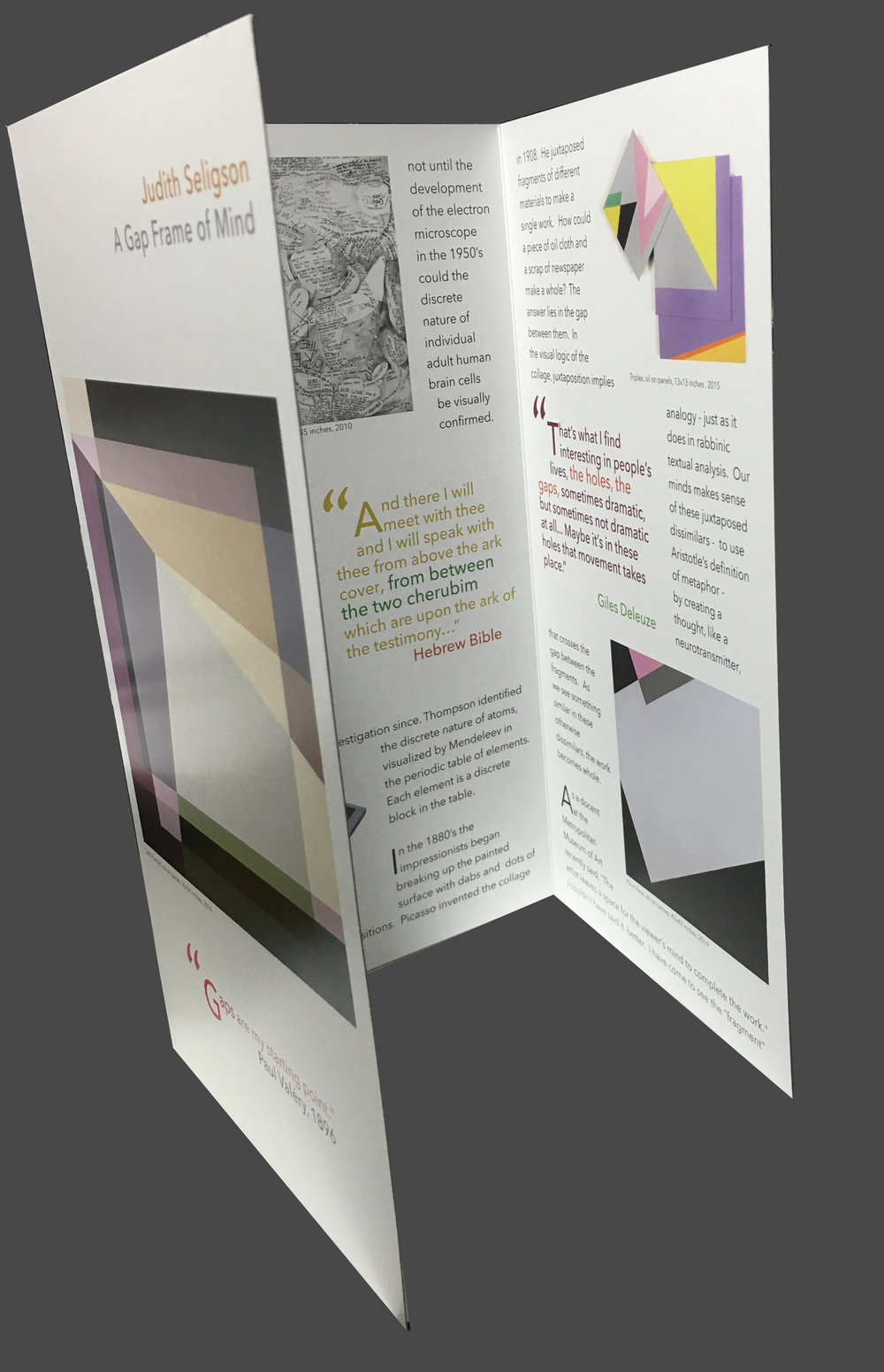 A GAP FRAME OF MIND  brochure (Click image to read). produced for my solo exhibition at the athenaeum in alexandria, va in 2016