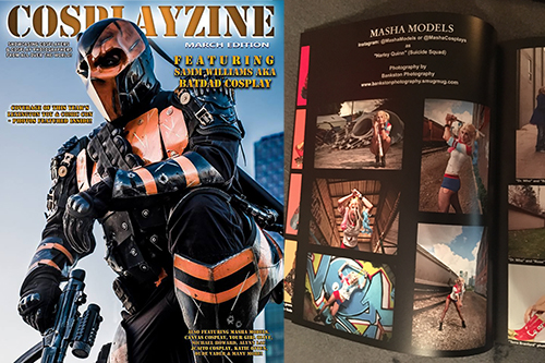 Bankston Photography was recently published in Cosplayzine, a national distributed cosplay magazine that features some of the best cosplayers and photographers out there.  We are very proud to be included in this elite group.