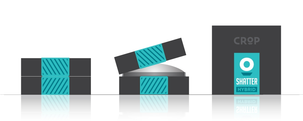 Shatter Box: Shatter will come in small compacts packed in a branded CROP box.