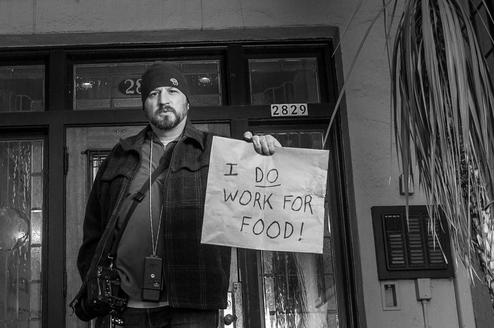 Self portrait. Portland photographer Nathan Sanborn