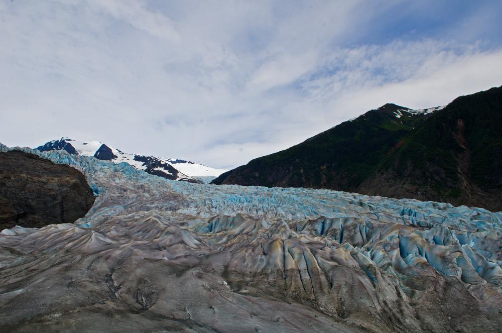 Alaska's Mendenhall glacier.