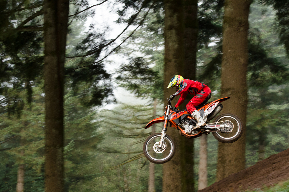 Jim Gustavson airing it out during a motocross race at Washougal MX Park.
