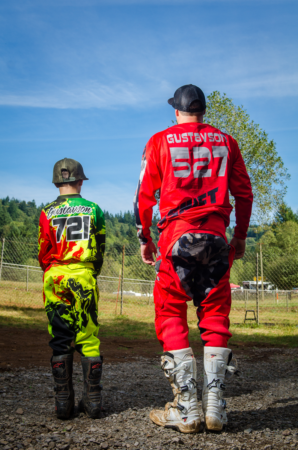 JIm and Mason Gustavson, a proud father son MX team at Washougal MX Park.