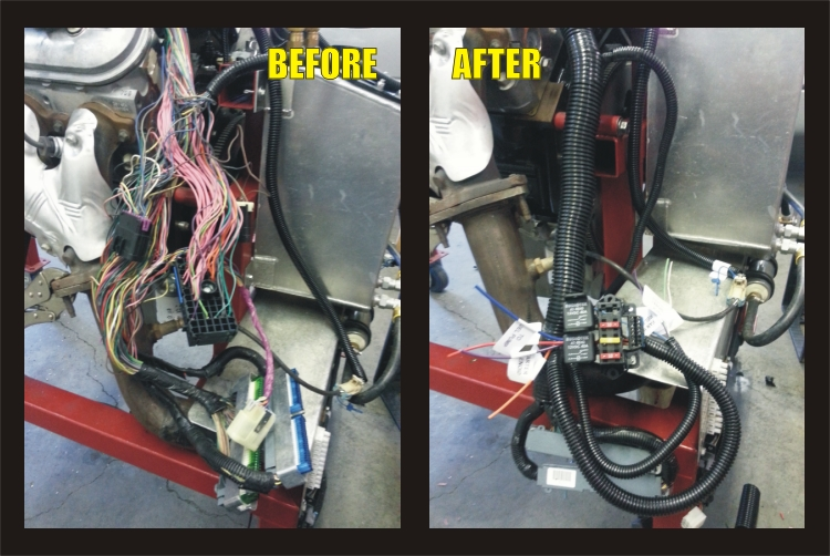 Harness+ +Before+and+After oem harness mod included bd turnkey engines llc wire fu harness at bayanpartner.co