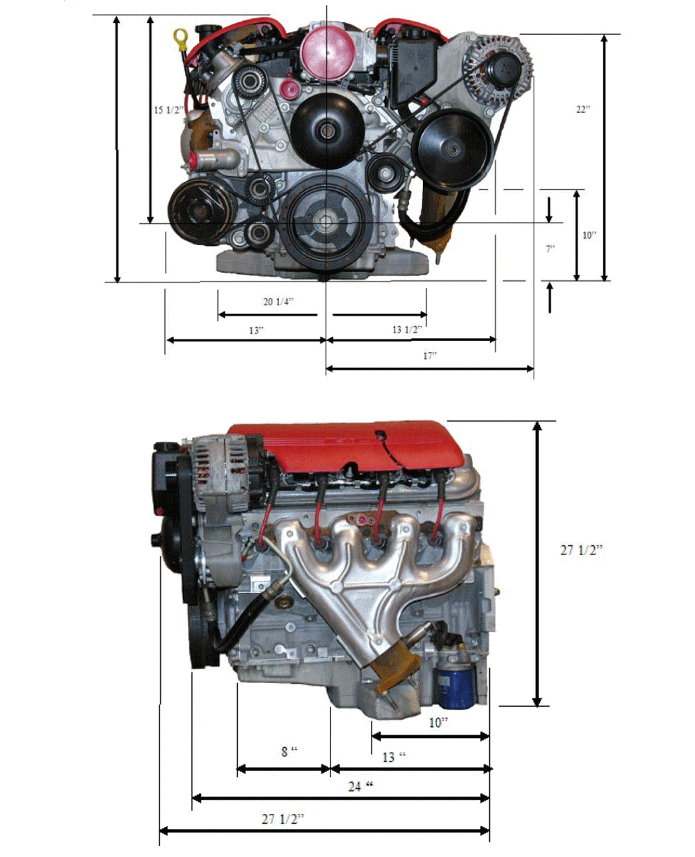 Engine Dimensions — BD Turnkey Engines LLC
