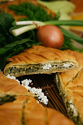 Spanakopita (traditional Greek spinach pie)