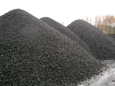 Piles of coal