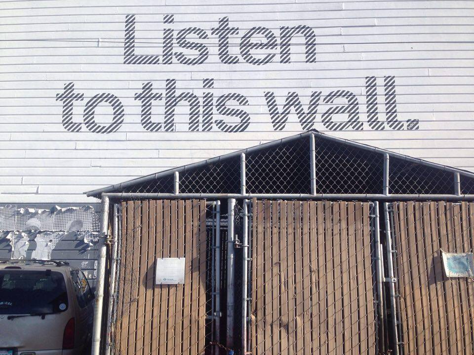 'Listen to this Wall' public art initiative, San Francisco. Photo by Gascia Ouzounian 2016.
