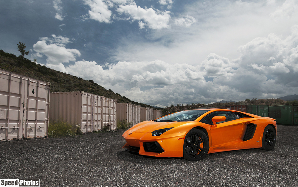 Lamborghini Aventador shot my Denver based photographer Nathan Leach-Proffer
