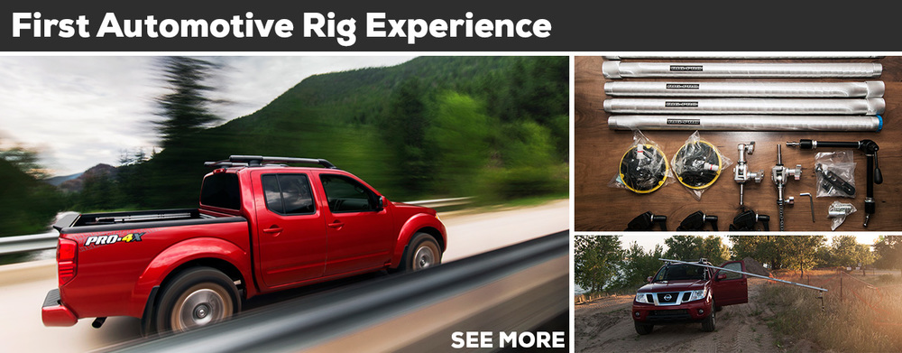 Automotive rigs are becoming more and more common as are the articles written about them, even with that in mind I wanted to share my first day and half shooting with one. In the most basic sense a rig consists of some suctions cups, clamps, and a pole... READ MORE