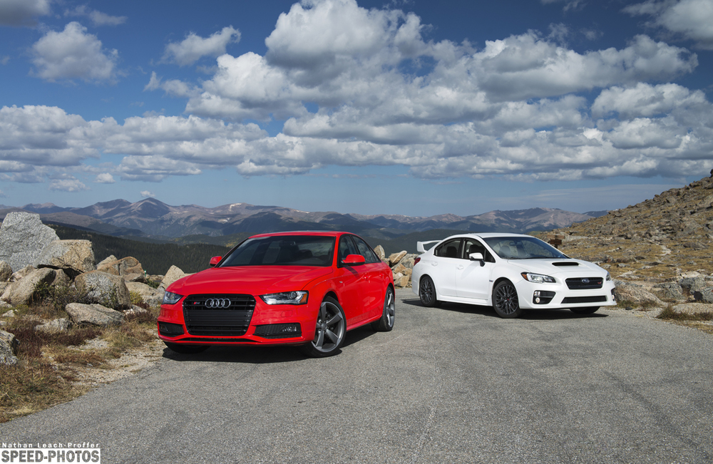 Audi S4 and Subaru STI ready to take on the road.