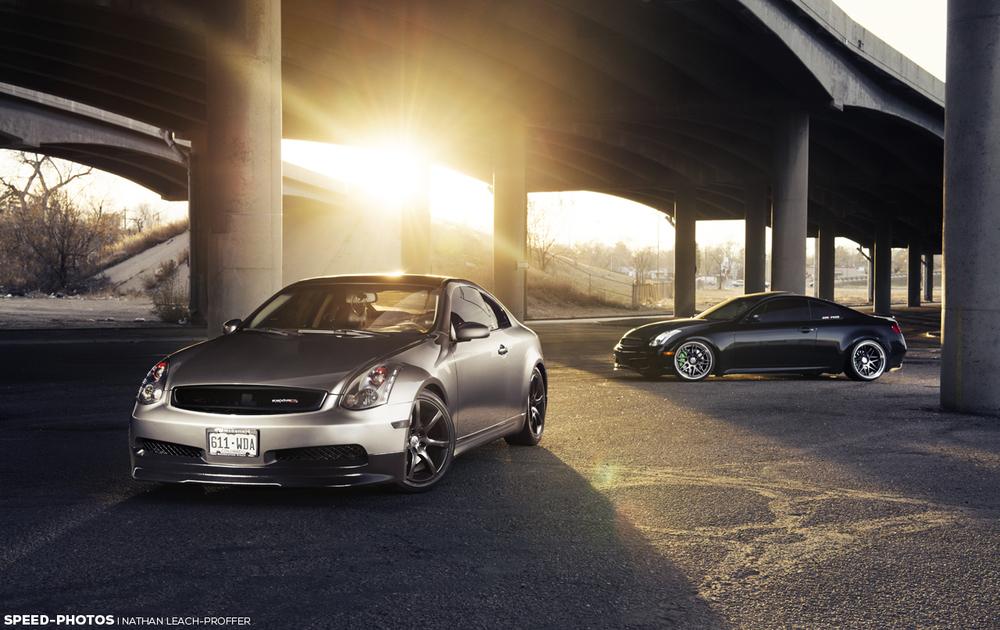 Infiniti G35 Coupes - sunset