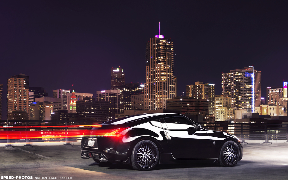 Light trails from Nissan 370Z