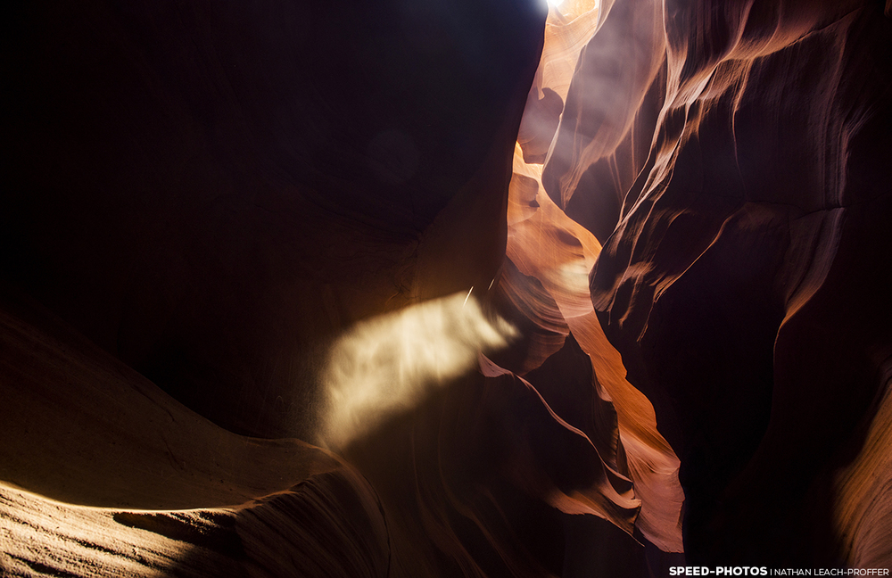 Antelope Canyon light beam.