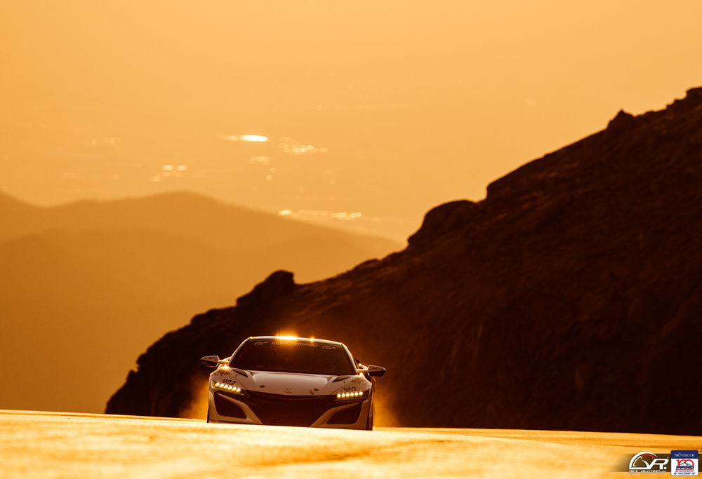 Acura NSX looking stunning at the 100 Anniversary Pikes Peak International Hill Climb.