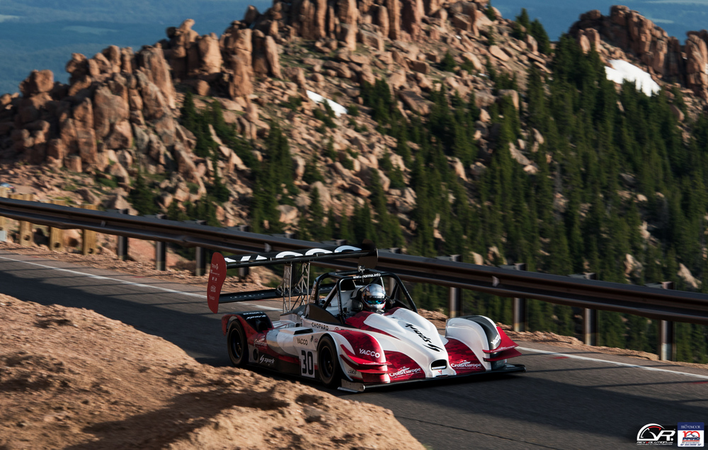 Romain Dumas at the 100 Anniversary Pikes Peak International Hill Climb