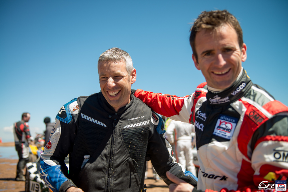 French celebrating their wins at the 100 Anniversary Pikes Peak International Hill Climb