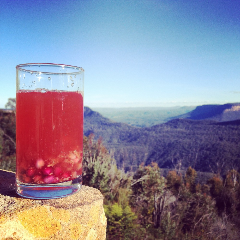Pomegranate second ferment visits the Blue Mountains :)