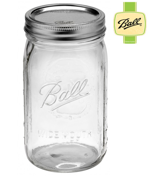 Box of Wide Mouth Quart Jars (1 litre)