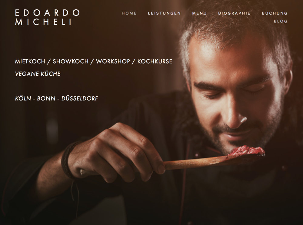 Edoardo Micheli Vegan and vegetarian freelance chef