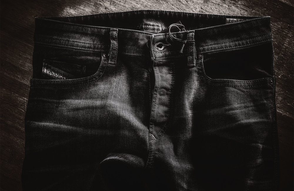 Dark Jeans close up Photo