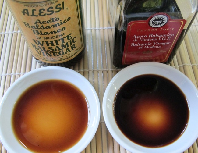 comparing white and red balsamic vinegar