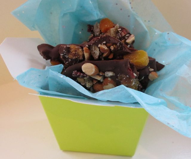 chocolate bark as a hostess gift