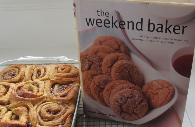 glazed cinnamon rolls with Abby Cook cookbook, the Weekend Baker