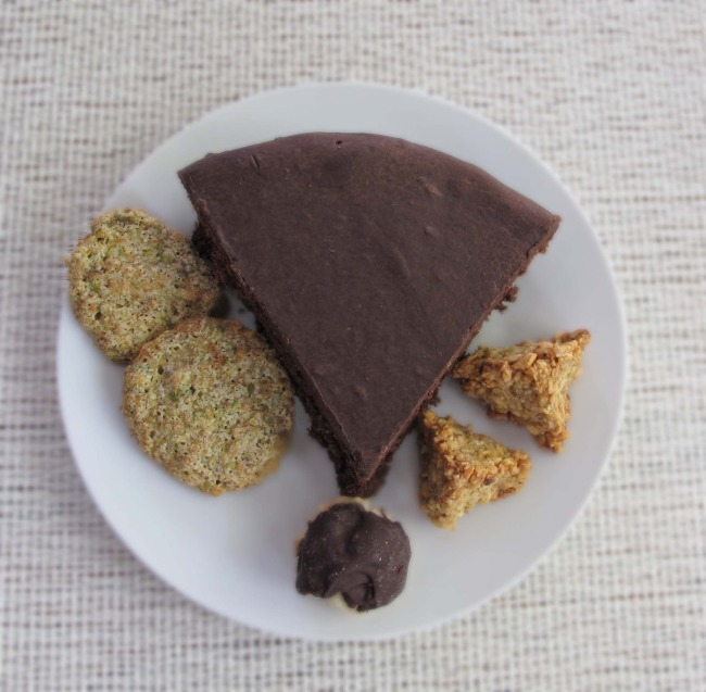 chocolate cake and cookies