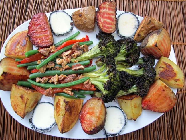 composed salad on plate