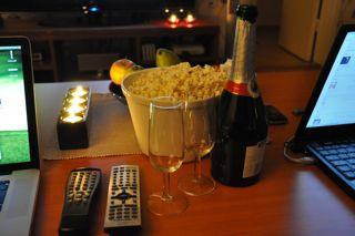 microwave popcorn, movie night with popcorn