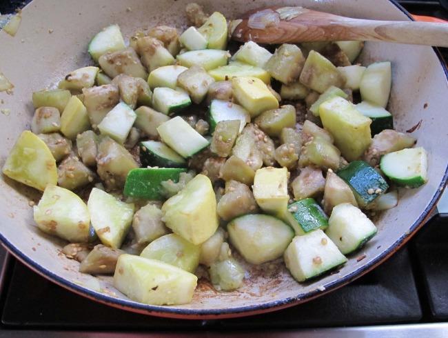 ratatouille recipe in process
