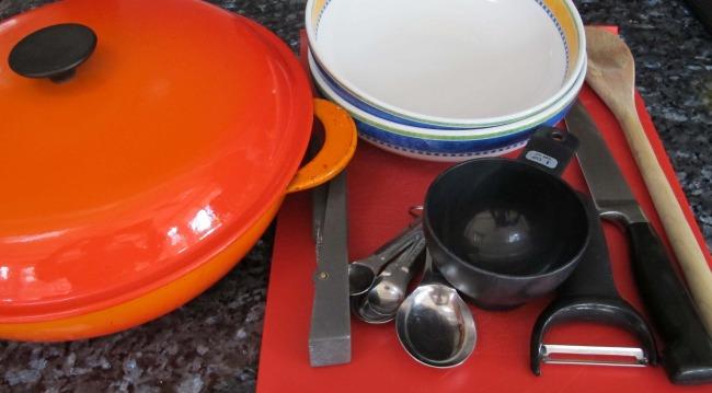 equipment for easy ratatouille recipe