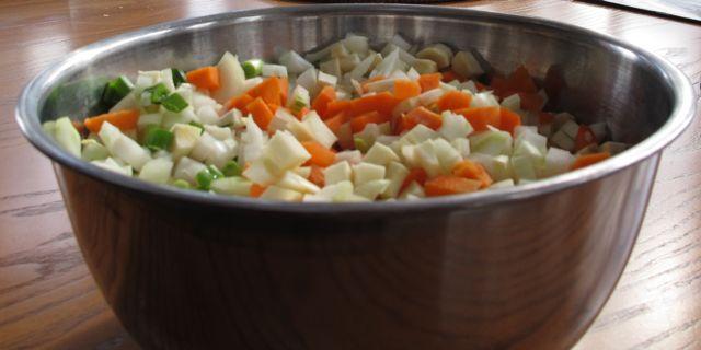 vegetables, cubed veggies