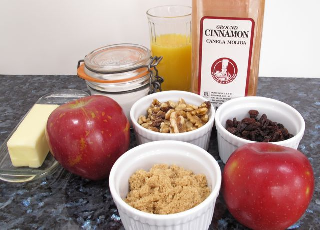 apple, baked apple, ingredients