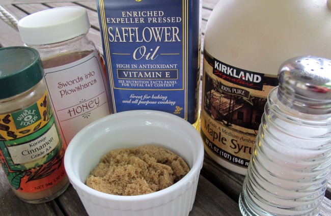 liquids and sweeteners for granola