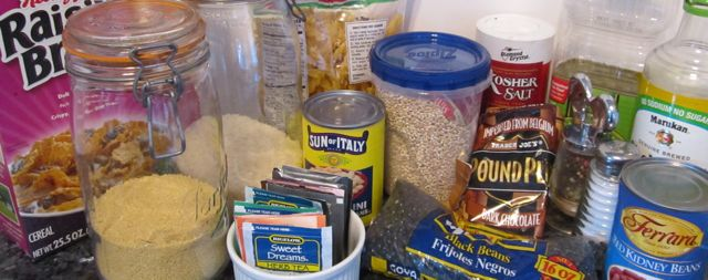 pantry, basic foods, stock kitchen, what foods to buy