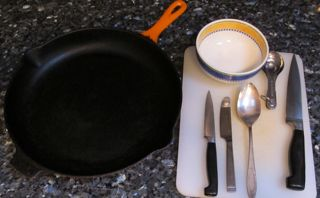 equipment utensils to make roasted cauliflower
